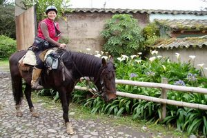 Horse back riding and Spanish classes in a hacienda in the sierra