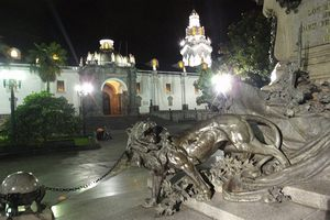 Quito at night - a Spanish school excursion for students to visit the historic center
