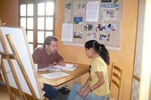 An individual Spanish class in Quito for a student studying on our Medical Spanish course