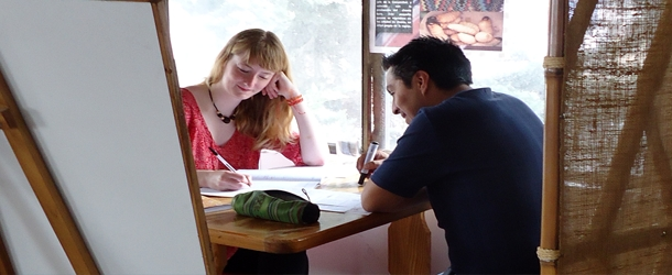 Spanish classes with a personal instructor in Quito in our spacious and well-lit school