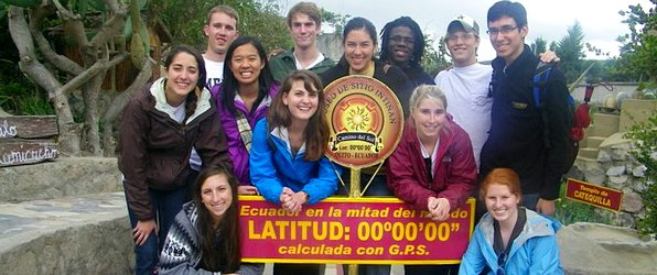 Spanish language courses in Quito - time for a break between classes!