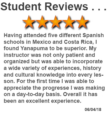 review of Spanish lessons in Quito, Ecuador