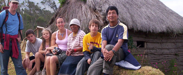 Service learning projects in the Andes in the town of Otavalo in the highlands of Ecuador