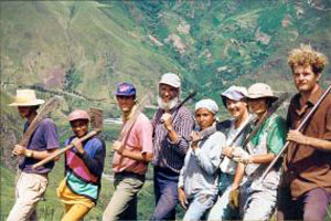 Yanapuma volunteers help in permaculture and conservation in the Andes of Ecuador